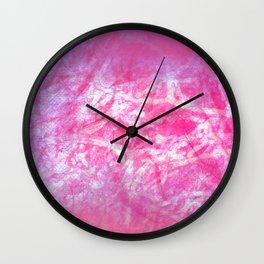 Microcosmos of Chaos (Violet Version) Wall Clock