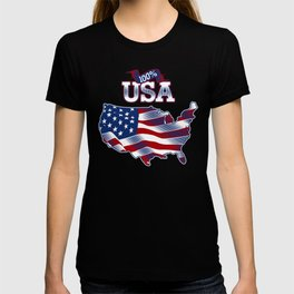 4th Of July - 100% Made In USA T-shirt