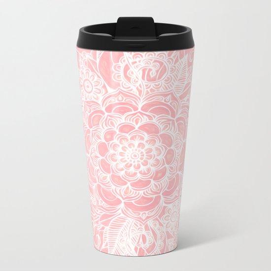 Marshmallow Lace Metal Travel Mug