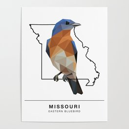 Missouri – Eastern Bluebird Poster