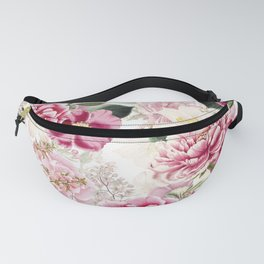 Vintage & Shabby Chic - Pink Chinoserie Flower Pattern Fanny Pack