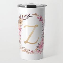 Letter Z Monogram Travel Mug