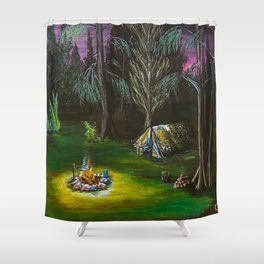 Just Camping Shower Curtain