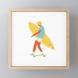 Skater from 70s Framed Mini Art Print
