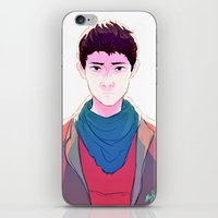 merlin iPhone & iPod Skins featuring Merlin by mypabulousscarf