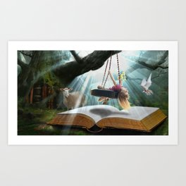 I will watch over you Art Print