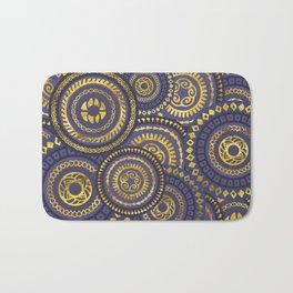 Circular Ethnic  pattern pastel gold and purple Bath Mat