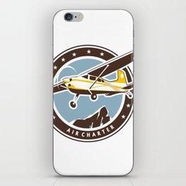 Aviation badge in retro style iPhone Skin