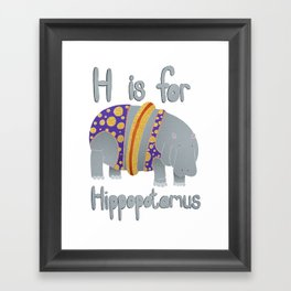 H is for Hippopotamus Framed Art Print
