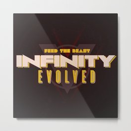 Infinity Evolved Metal Print