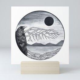 Wooden Bird Mini Art Print