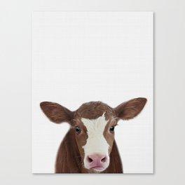 Cow print, Farm animal prints, Nursery decor, Animal art, Baby animals Canvas Print