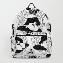 Winter space flower Backpack