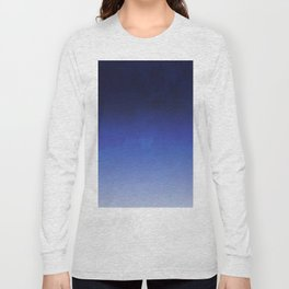 Modern navy blue watercolor ombre gradient fade Long Sleeve T-shirt