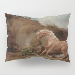 George Stubbs - Horse Frightened by a Lion Pillow Sham