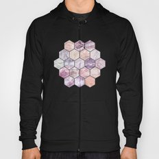 Rose Quartz and Amethyst Stone and Marble Hexagon Tiles Hoody