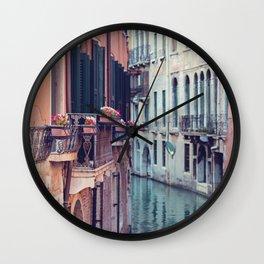 Venice Canal - Venice, Italy Wall Clock