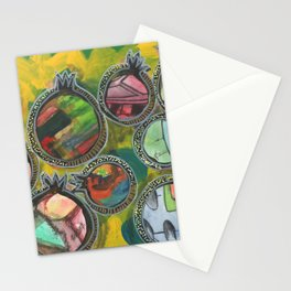 Colorful pomegranates collage series 3/7 Stationery Cards