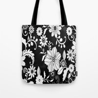 floral pattern Tote Bags featuring Floral pattern by Laake-Photos
