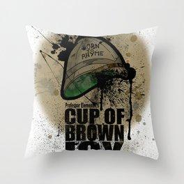 cup of brown joy Throw Pillow