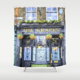 The Grapes Pub London Art Shower Curtain