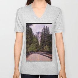 Ahwahnee Bridge, Yosemite Village Unisex V-Neck
