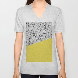 Granite and Meadowlark Color Unisex V-Neck