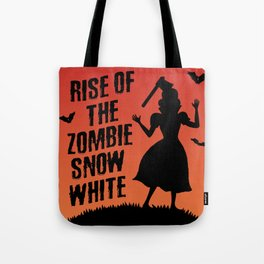 Halloween Zombie Snow White Humor Horror Tote Bag