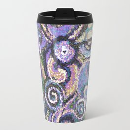 Textured Circles Travel Mug