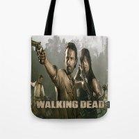 walking dead Tote Bags featuring Walking Dead by store2u