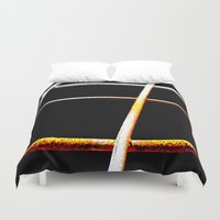the wire Duvet Covers featuring Rusty Wire by The Wellington Boot