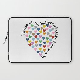Hearts Heart Teacher Laptop Sleeve