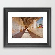 Carmel monastery Framed Art Print