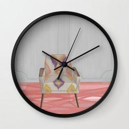 Flamestitch armchair Wall Clock