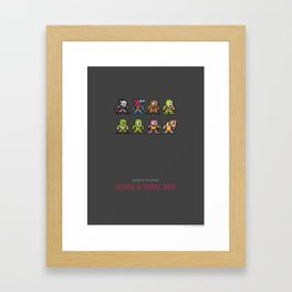 Mega MotU: Horde & Snake Men Framed Art Print