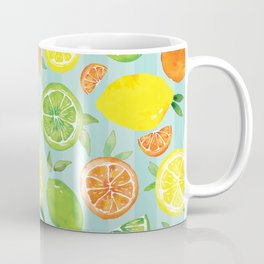 Zesty Citrus Pattern Coffee Mug