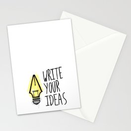 Write Your Ideas Stationery Cards