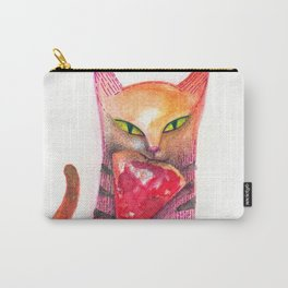 pet cat with precious prey Carry-All Pouch