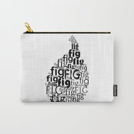 Typography fig Carry-All Pouch