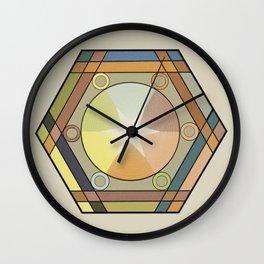 Babbitt's Chromatic Harmony of Gradation and Contrast, 1878, Remake, Vintage Wash Wall Clock