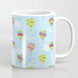 Let's Go Travel Hot Air Balloons Pattern Coffee Mug