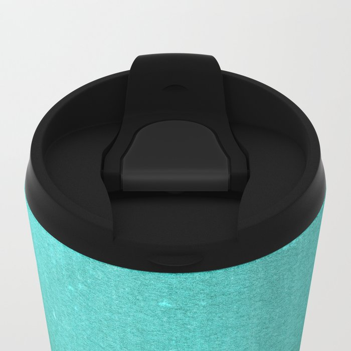 BLUR / abyss / turquoise green Metal Travel Mug