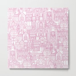 gingerbread town pink Metal Print