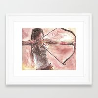 tomb raider Framed Art Prints featuring Tomb Raider by LK'sArts