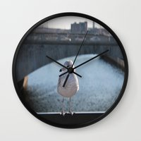 charlie Wall Clocks featuring Charlie by Chris Cooch