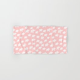 Stars on pink background Hand & Bath Towel