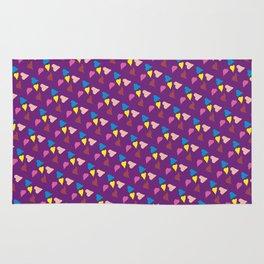 Ultra violet hearts Rug