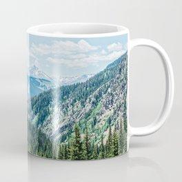 Mountain Landscape // Ski Resort Runs in Summer Epic Green Forest Wilderness Photograph Coffee Mug