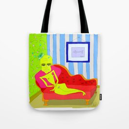 """""""Stealing Matisse"""" (Picasso Watching) Tote Bag"""