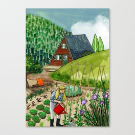 June in the Mountain Canvas Print